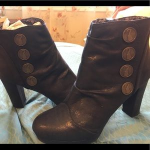Once Upon a Time Capt Hook inspired heeled booties